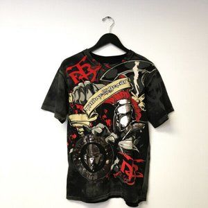 Nature Of The Beast Graphic Tee Shirt Size M Black